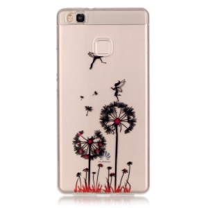 IMD Clear TPU Back Cover Protector for Huawei P9 Lite / G9 Lite - Fairy and Dandelion