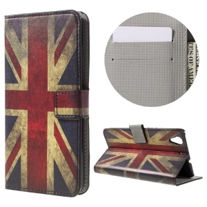 Colorful Pattern Flip Leather Wallet Shell for Huawei Honor 5A - Retro British Flag