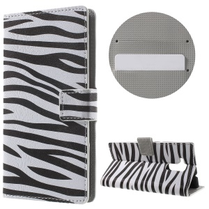 Leather Stand Case with Card Slots for Huawei Honor 5c - Zebra Stripes
