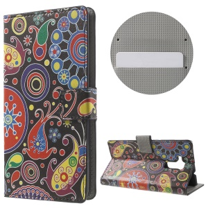 Phone Leather Card Holder Case for Huawei Honor 5c - Paisley Flowers