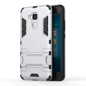 Solid PC + TPU Hybrid Case with Kickstand for Huawei Honor 5c / GT3 - Silver