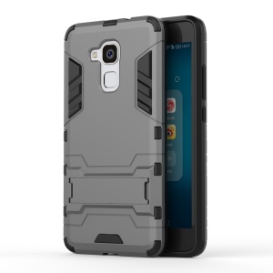 Solid PC + TPU Hybrid Shell Case with Kickstand for Huawei Honor 5c / GT3 - Grey