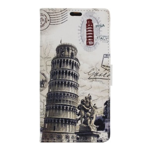 Wallet Leather Stand Case for Huawei Honor 5A - Leaning Tower of Pisa