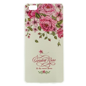 Softlyfit Embossed Slim TPU Case Cover for Huawei Ascend P8 Lite - Garden Roses