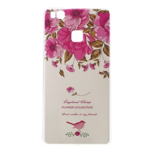 Softlyfit Embossing TPU Case Cover for Huawei P9 Lite/G9 Lite - Garden Roses