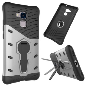 Armor PC + TPU Kickstand Hybrid Case for Huawei Honor 5c / GT3 - Silver