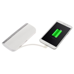 AMORUS S1 2.1A 10400mAH Power Bank for iPhone Samsung Sony Pokemon Game - White