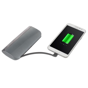 AMORUS S1 2.1A 10400mAH Power Bank for iPhone Samsung Sony - Grey