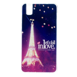 Drop Protection TPU Case for Huawei Honor 7i/ShotX - Eiffel Tower and Let Us Fall in Love
