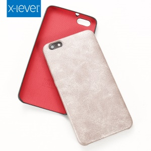 X-LEVEL for Huawei Honor Play 4X Vintage Series Leather Skin PC Back Cover Case - Gold