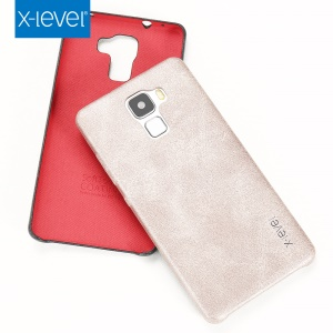 X-LEVEL Vintage Series for Huawei Honor 7 Leather Coated Hard Cover - Gold
