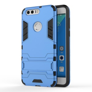 Solid PC + TPU Hybrid Cover Case with Kickstand for Huawei Honor 8 - Baby Blue