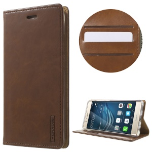 MERCURY GOOSPERY Blue Moon Leather Protective Case for Huawei P9 - Brown