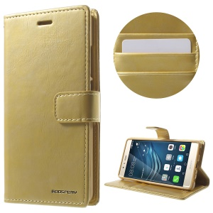 MERCURY GOOSPERY Blue Moon Leather Case Card Holder for Huawei P9 - Gold