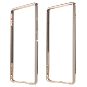 Aluminum Alloy Bumper Shell Case for Huawei P9 Plus with Strap + Screw Kit - Champagne Gold