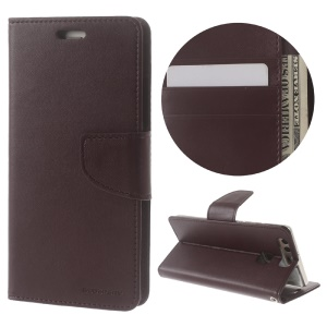 MERCURY GOOSPERY Bravo Diary Flip Leather Cover for Huawei P9 - Wine Red