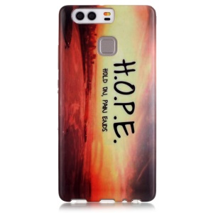 Stylish Patterned TPU Protective Case for Huawei P9 - Hope and Sunrise