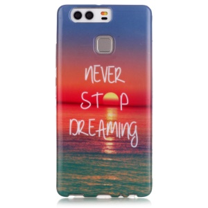 Stylish Patterned TPU Protector Case for Huawei P9 - Never Stop Dreaming