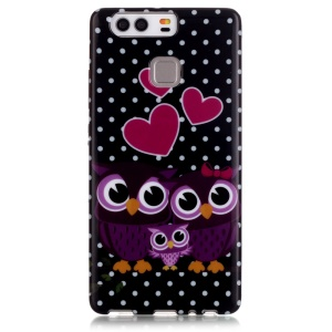 Stylish Patterned TPU Protector Cover for Huawei P9 - Owl Family