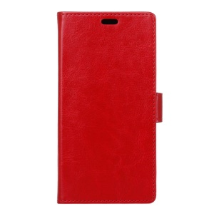 Crazy Horse Stand Leather Shell for Huawei Y6II / Honor 5A - Red