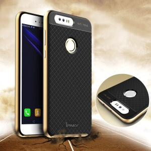 IPAKY PC Bumper + TPU Protective Cover for Huawei Honor 8 - Gold
