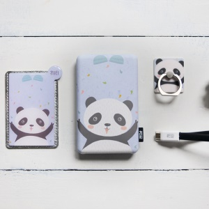 MAOXIN Forest Series Creative Cute 8000mAh Power Bank Charger with Gift Set - Panda