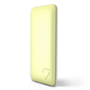 PURIDEA S5 7000mAh Dual USB Slim Power Bank for iPhone iPad Samsung - Yellow