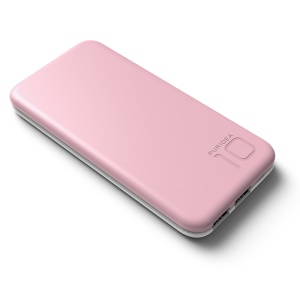 PURIDEA S2 10000mAh Mobile Power Charger Dual USB for iPhone iPad Samsung - Pink