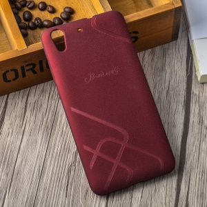 BOSILANG Lines Pattern Frosted TPU Shell Case for Huawei Honor 5A - Red