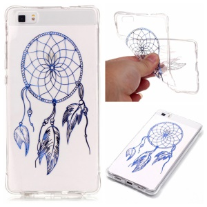 Lacquered Back Cover TPU Case for Huawei Ascend P8 Lite - Dream Catcher
