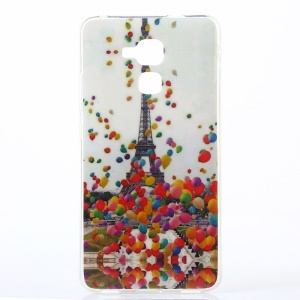 Soft IMD TPU Cover Case for Huawei Honor 5c - Eiffel Tower and Balloon