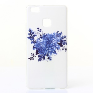 IMD TPU Gel Back Case for Huawei P9 Lite/G9 Lite - Blue Flower