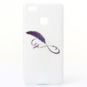 IMD TPU Gel Phone Cover for Huawei P9 Lite/G9 Lite - Feather