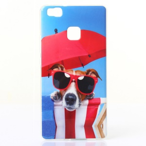 IMD TPU Gel Back Case for Huawei P9 Lite/G9 Lite - Dog Enjoying Sunshine