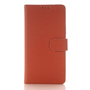Litchi Texture Wallet Leather Phone Case for Huawei Mate 8 - Brown
