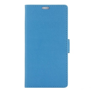 Textured Flip Case Wallet Leather Phone Cover for Huawei nova plus/ G9 Plus/ Maimang 5 - Blue