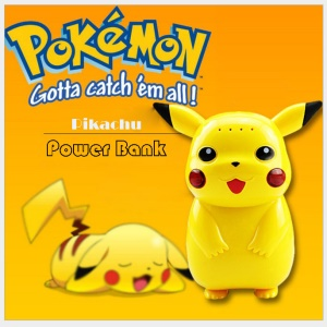 Pokemon Go Cute Pikachu 10000mAh Power Bank Pocket Monster Battery Charger