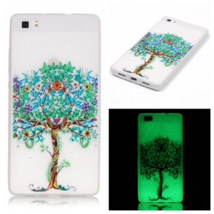 Noctilucent TPU Shell Case for Huawei Ascend P8 Lite - Unique Tree