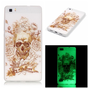 Noctilucent TPU Shell for Huawei Ascend P8 Lite - Cool Skull