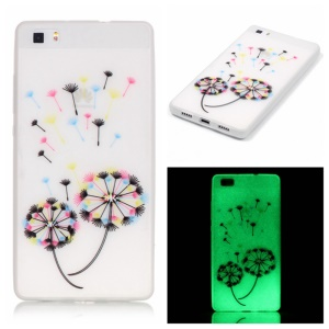 Noctilucent TPU Cover for Huawei Ascend P8 Lite - Dandelion Pattern