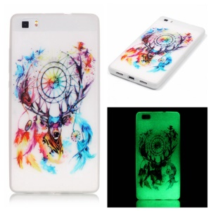 Noctilucent TPU Protective Case for Huawei Ascend P8 Lite - Dream Catcher