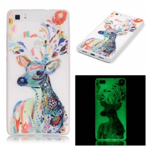 Noctilucent TPU Gel Case para Huawei Ascend P8 Lite - coloreada ciervo