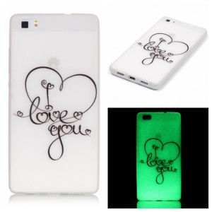 Noctilucent TPU Cover for Huawei Ascend P8 Lite - I LOVE YOU Pattern