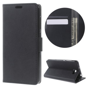 Wallet Stand Leather Case for Huawei Y6II Compact - Black