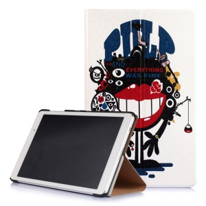 Stand Magnetic Flip Smart Leather Case for Huawei MediaPad T2 10.0 Pro - Red Lip Monster