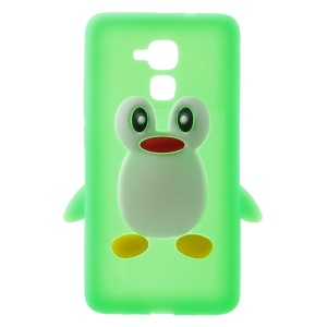 3D Penguin Silicone Phone Cover Case for Huawei Honor 5c / GT3 - Green