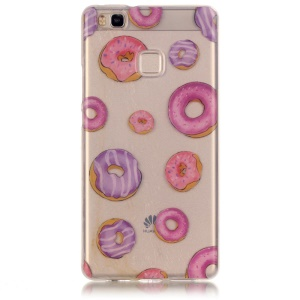 Clear Soft IMD TPU Case Cover for Huawei P9 Lite / G9 Lite - Donuts