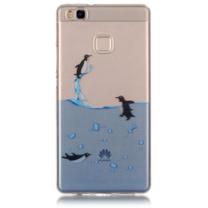 Clear IMD TPU Back Cover Case for Huawei P9 Lite / G9 Lite - Penguins