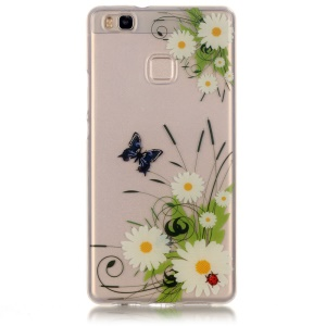 Clear IMD TPU Phone Cover for Huawei P9 Lite / G9 Lite - Butterfly and Daisy