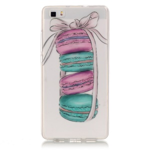 IMD Clear Soft TPU Case for Huawei Ascend P8 Lite - Macarons